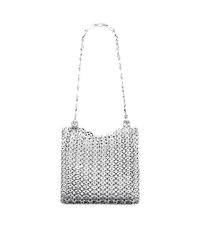 classic 1969 disc medium bag in silver