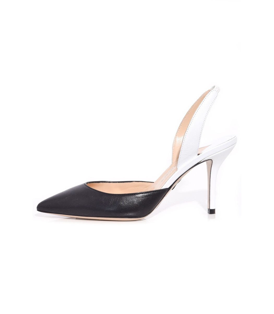 Paul Andrew AW Slingback Pump in Black/White