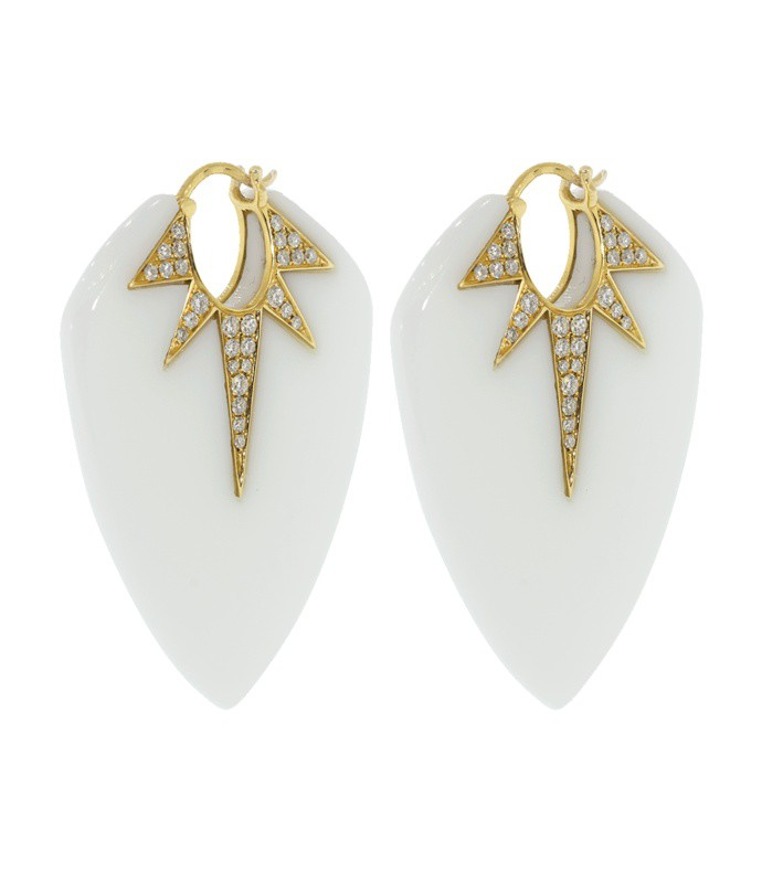 pietra guitar pick earrings