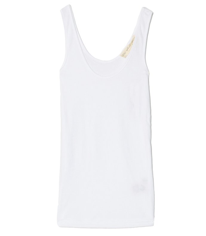micro rib wife hugger tank in toga party