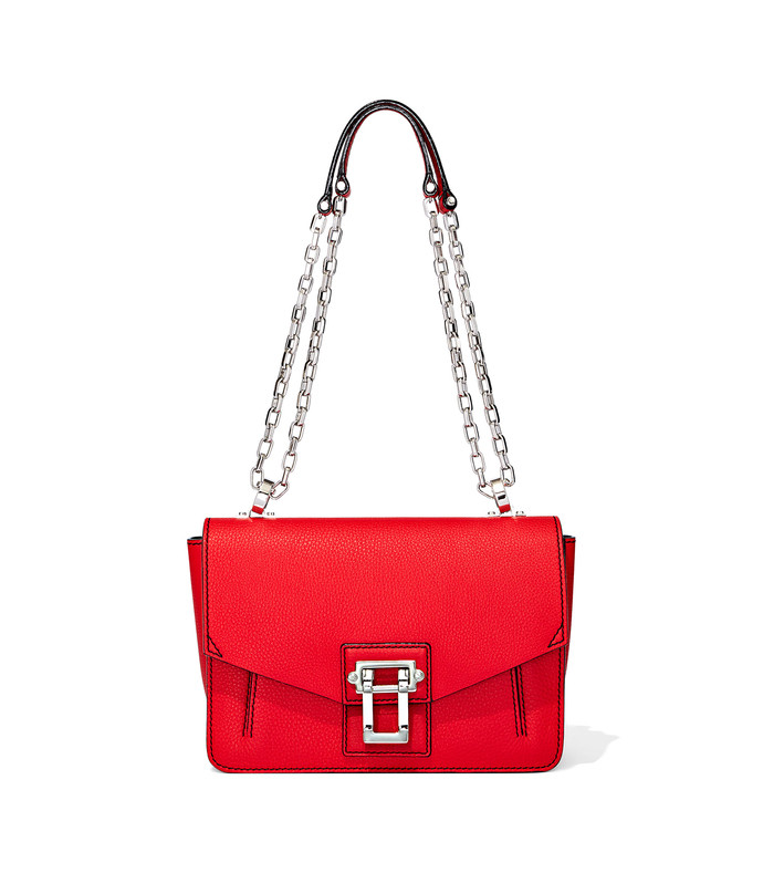 hava chain shoulder bag in cardinal