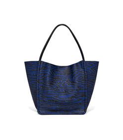 blue wood grain l tote bag