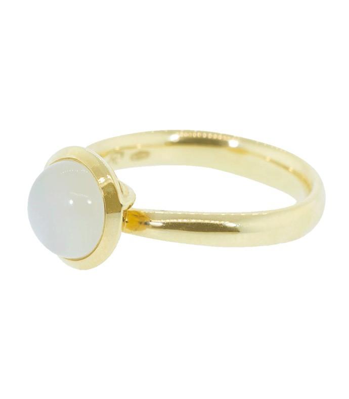 white moonstone bouton ring