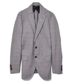 taupe glen plaid sport blazer