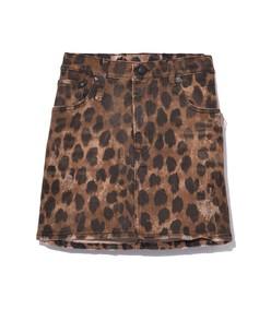 leopard high rise mini skirt