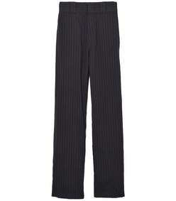 slouch pant in grey stripe