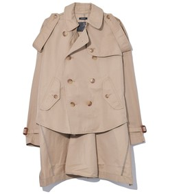 tuck-in trench in khaki