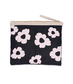 pink daisy oversized pouch