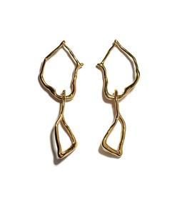 gold surrealist earrings