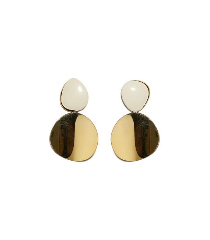 painted disco earrings