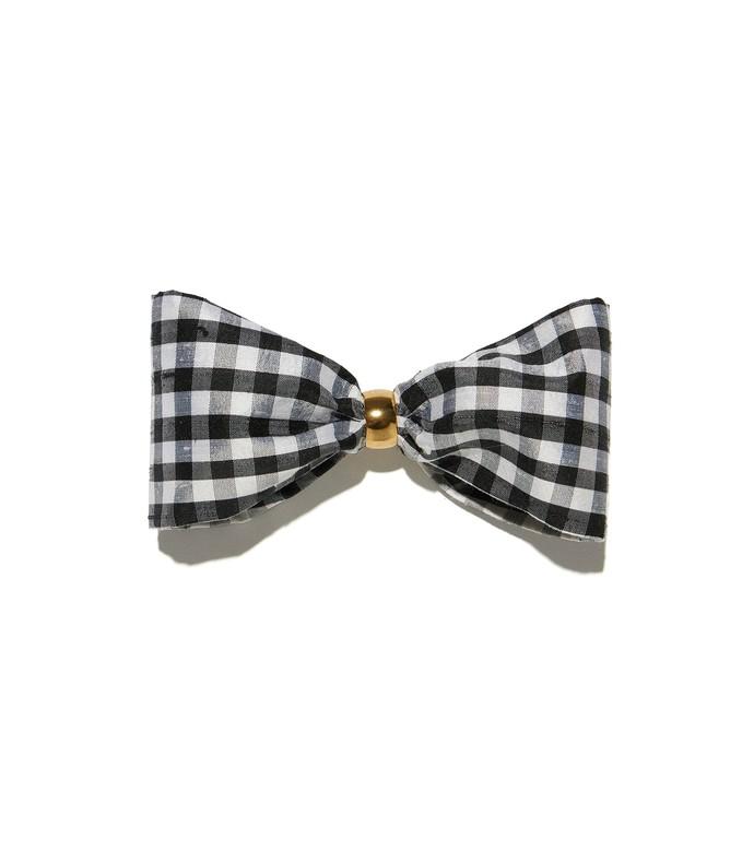 black & white gingham bow