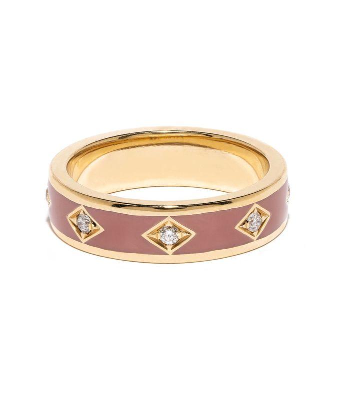 pink sky diamond band