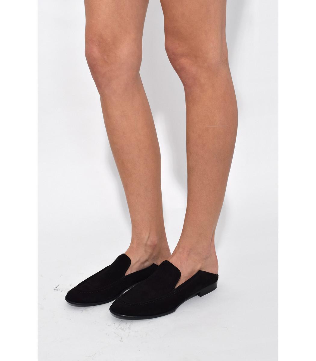 Rag & Bone Black Suede Convertible Alix Loafers U7vkvjtU