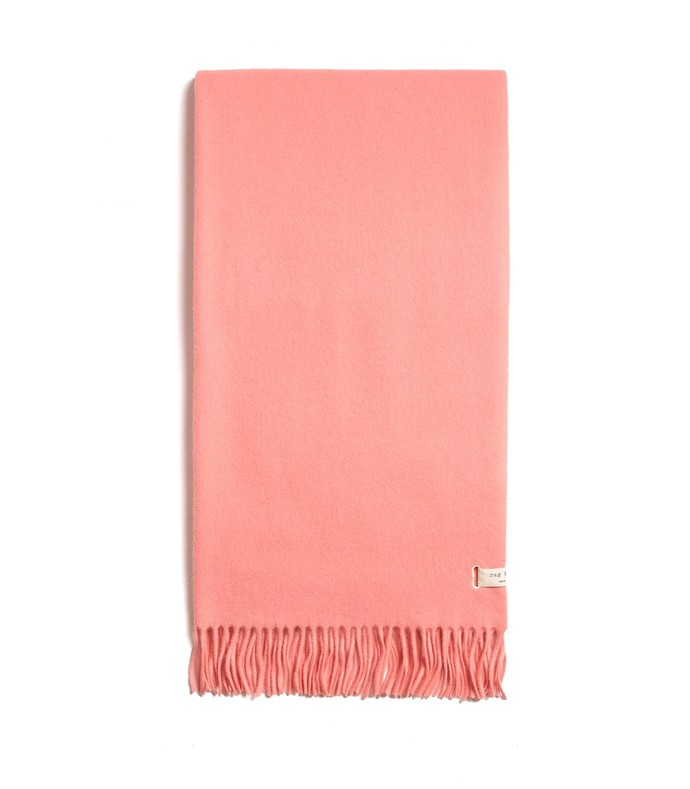 pink classic wool scarf