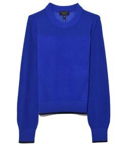 bright blue yorke cashmere crew