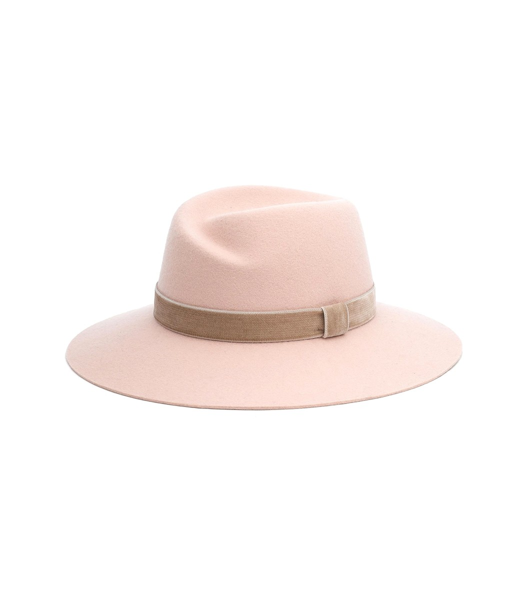 A tonal band with a rich texture upgrades a contemporary wool fedora styled  with a classic molded crown and wide d1f9e9969af