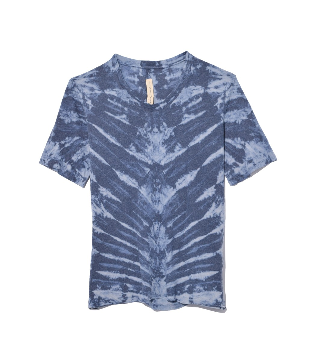Raquel Allegra Tops Boyfriend Tee in Water Tie Dye