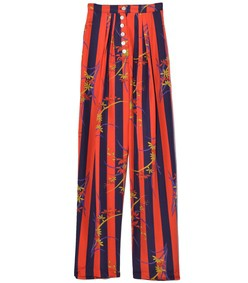 button front trouser in nightshade stripe