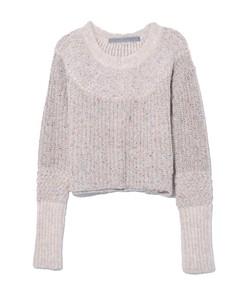 crop sweater in oatmeal