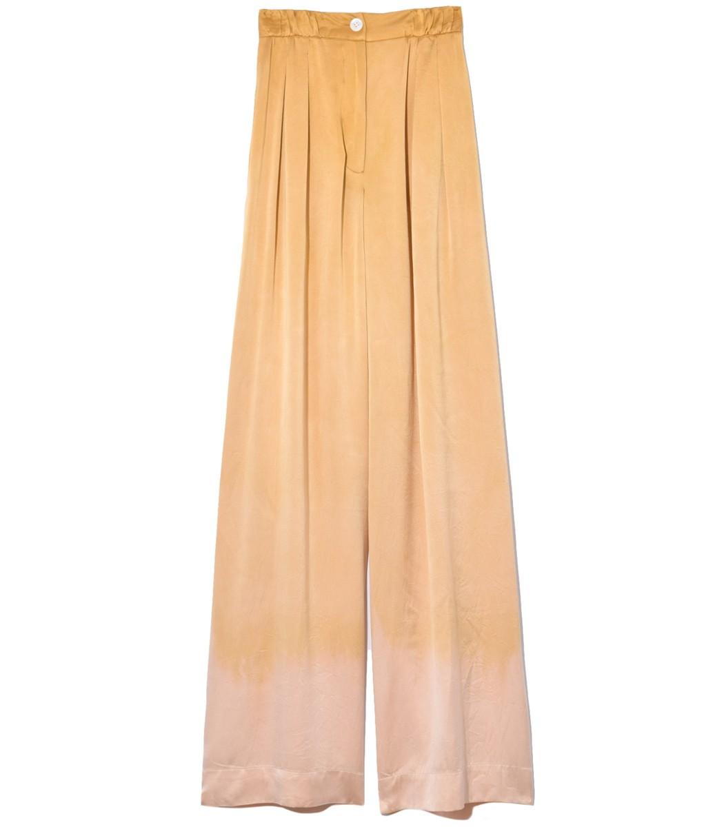 Raquel Allegra Pants Keaton Soft Trouser in Golden Sun Tie Dye