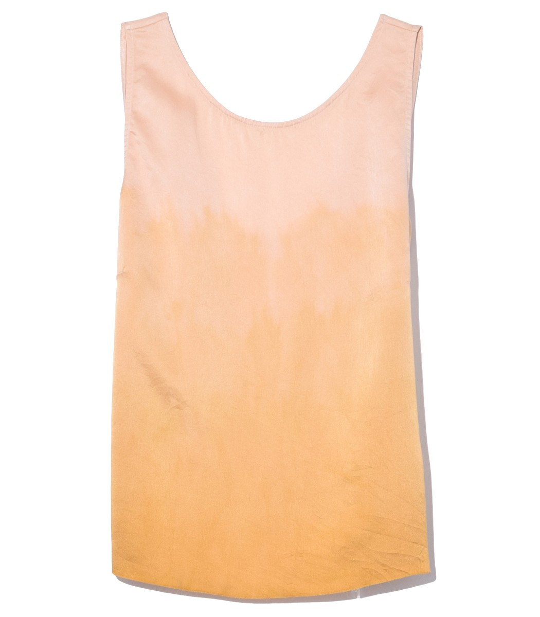 Raquel Allegra Tops Low Back Tank in Golden Sun Tie Dye