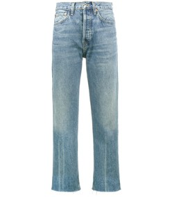 blue stove pipe jeans