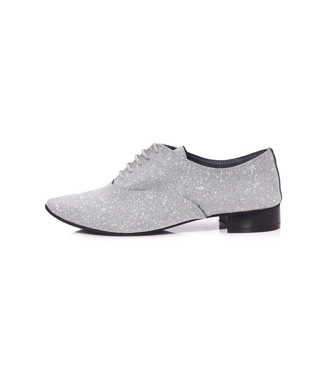 Repetto Black Argent Charlotte Oxford Shoes