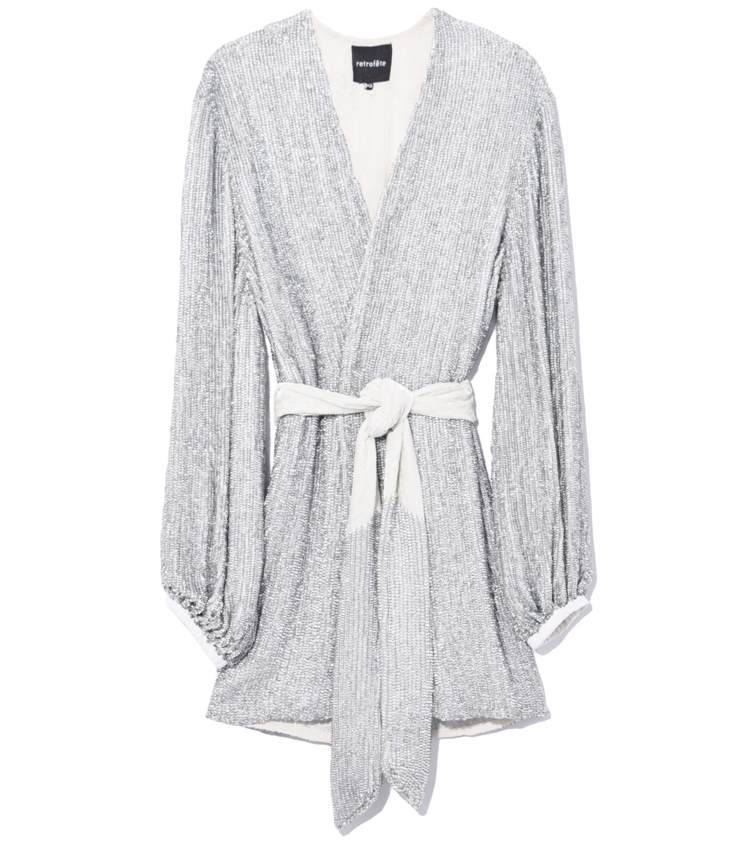 Retroféte Gabrielle Robe Dress in Silver