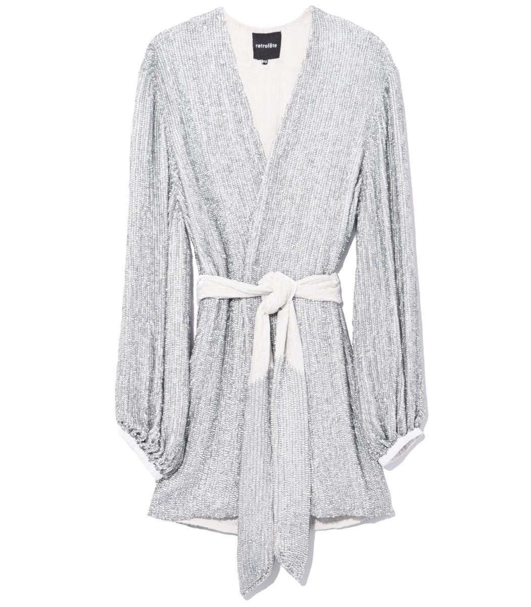 c57cdc8e Home / Retrofete / Gabrielle Robe Dress in Silver. prev