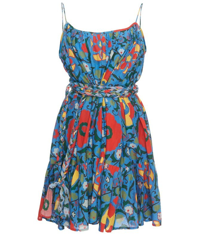 blue multicolor nala dress