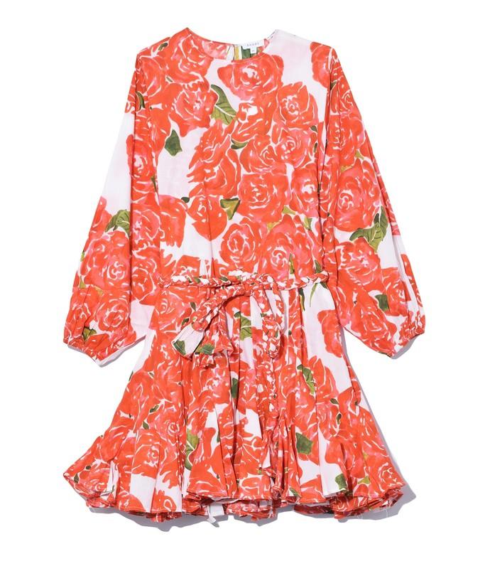 ella dress in rose bouquet