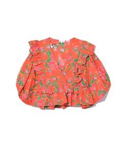 elodie top in red dazzle