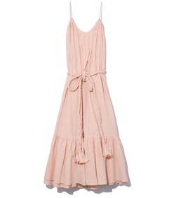 lea dress in peach