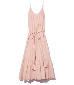 lea dress in peach