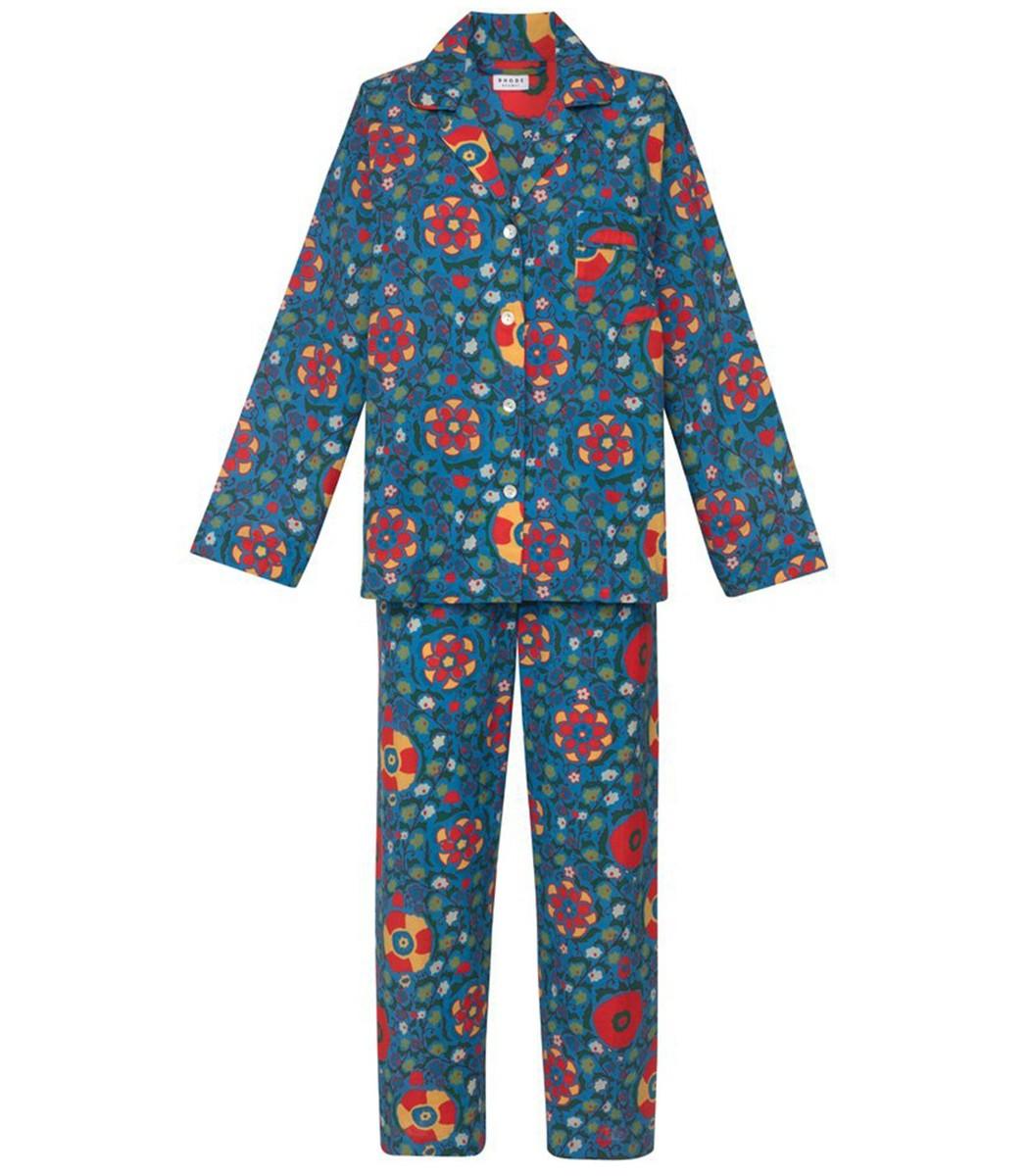 RHODE RESORT Berto Pajamas in Blue Multiflower