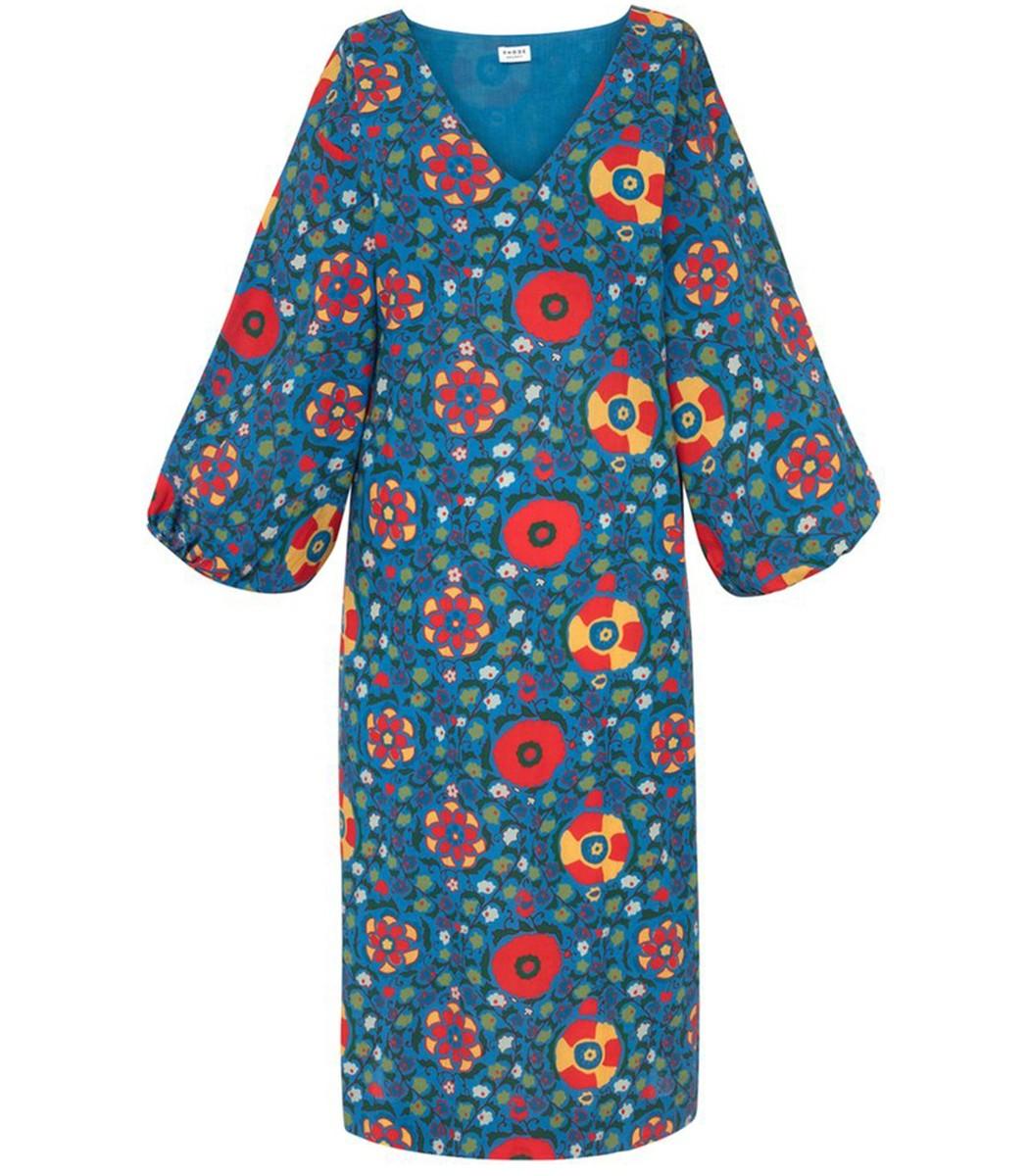 RHODE RESORT Delilah Dress in Blue Multiflower