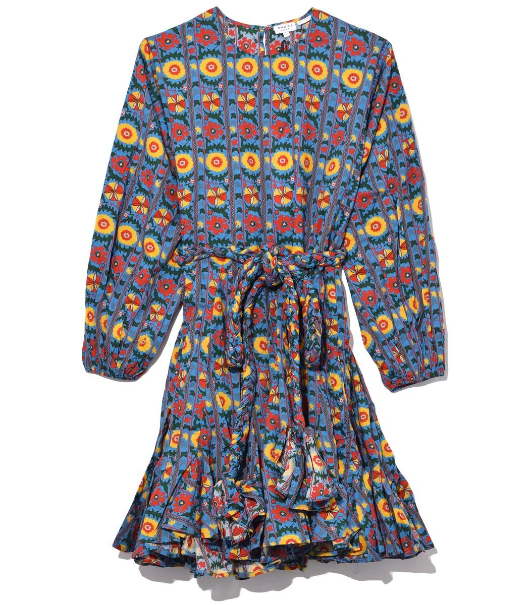 RHODE RESORT Ella Dress in Blue Multiflower