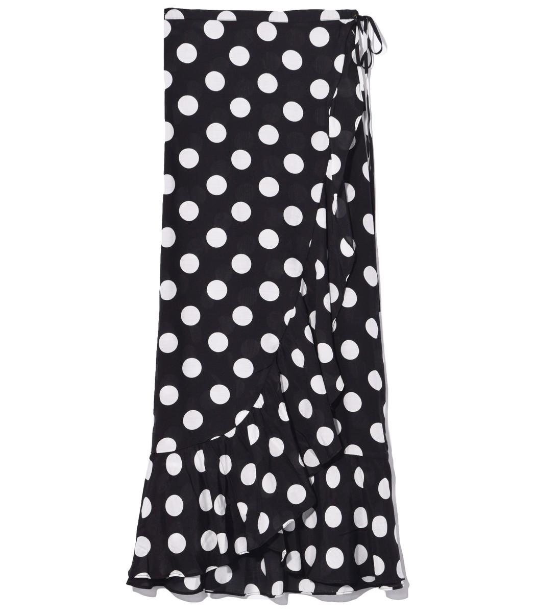 Rixo London Gracie Skirt in Polka Dot