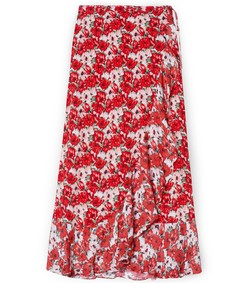 gracie skirt in red diana floral
