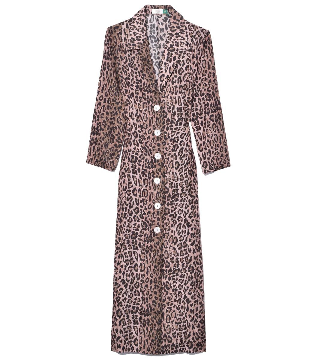 Rixo London Sienna Dress in Leopard