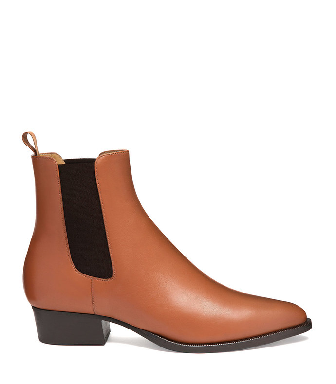 robie chelsea boot in tan nappa leather