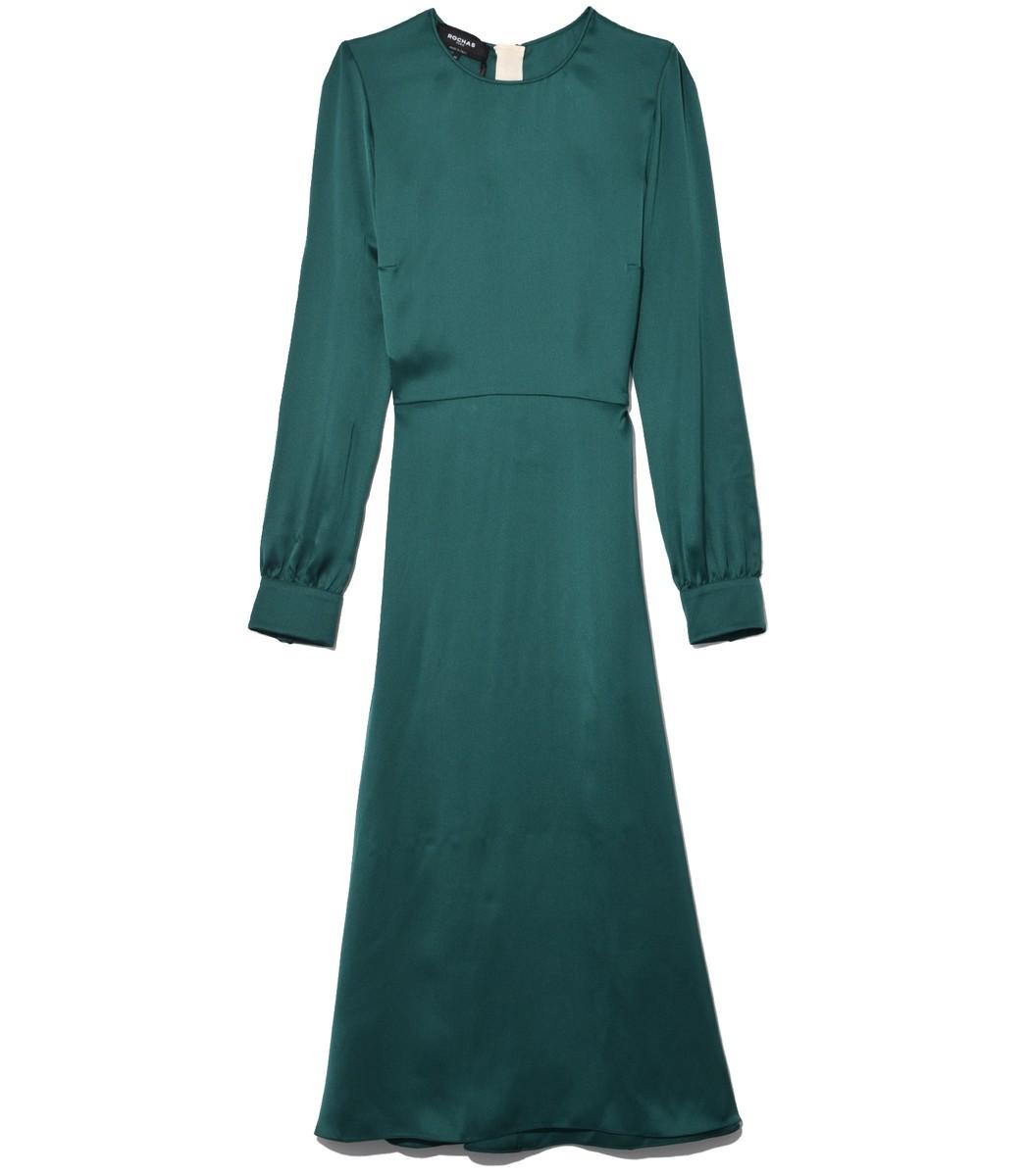 ROCHAS Dark Green A Line Dress