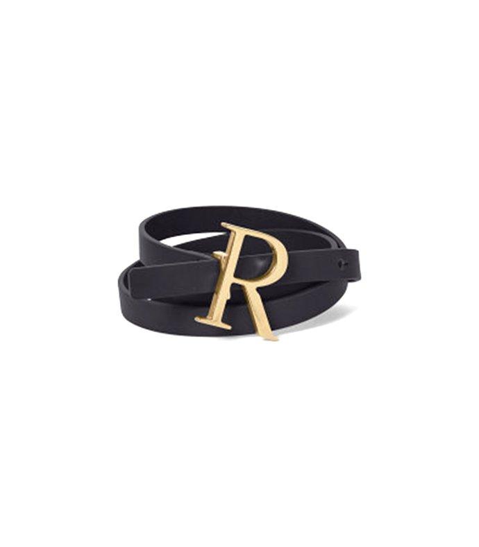 logo belt in gold