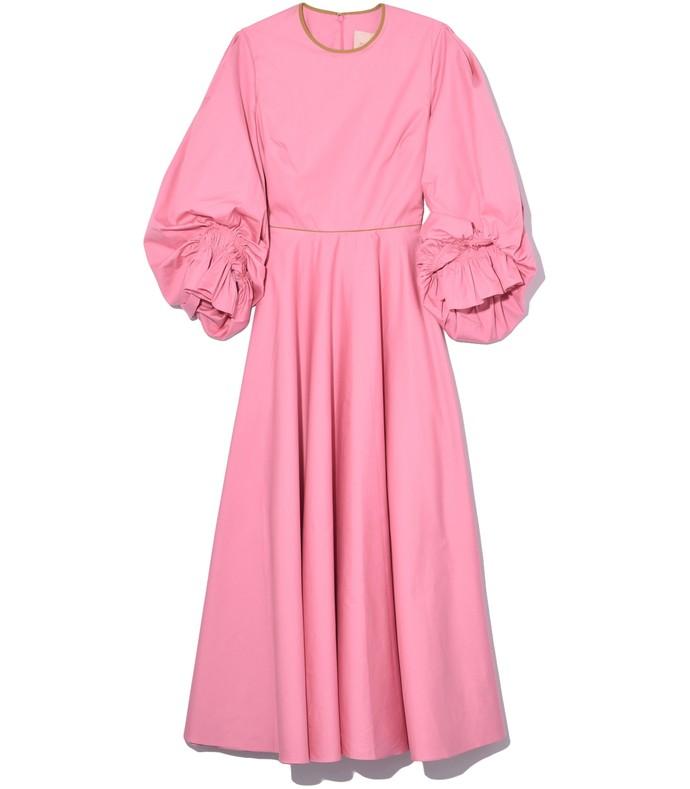 Fife Dress in Dark Flamingo