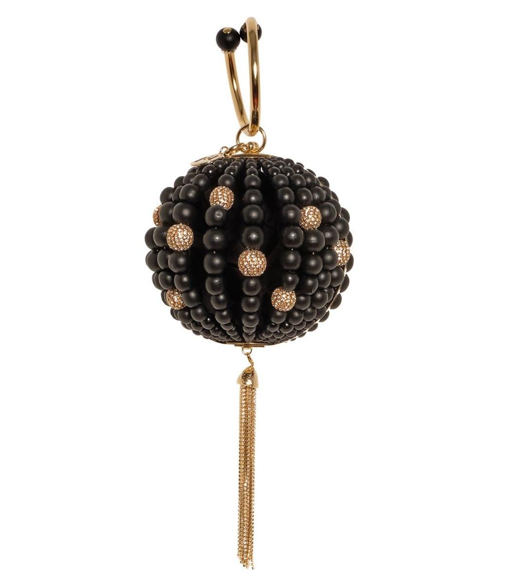 Rosantica Marachella Round Bead Bag - Black