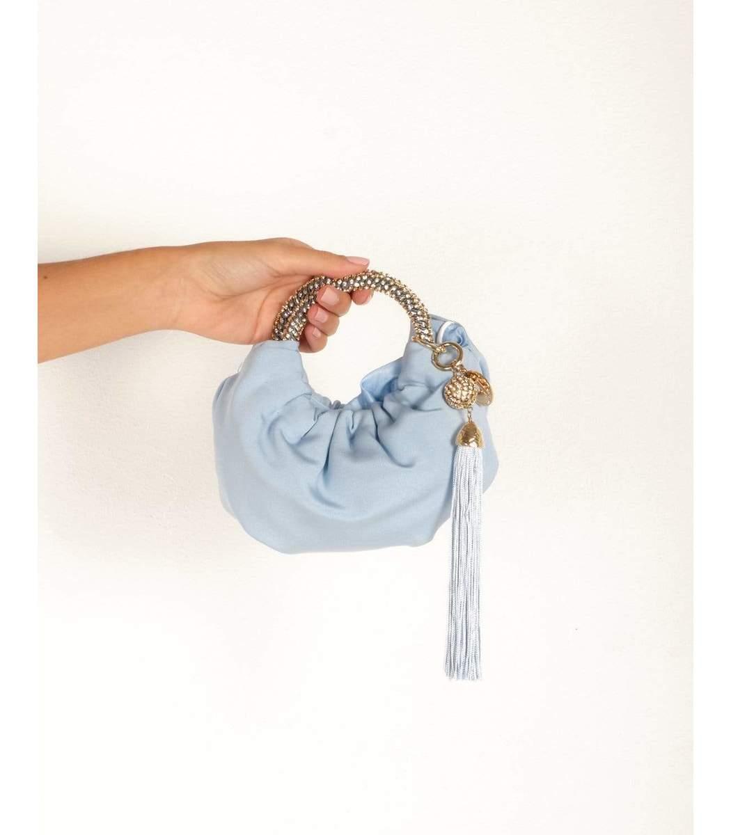 ROSANTICA Handbags Mini Croissant Handbag - Blue