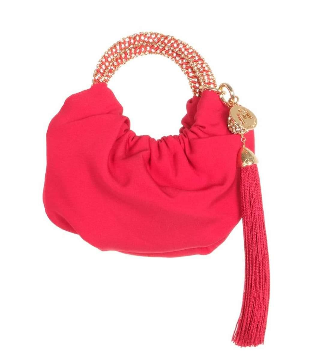 Rosantica Mini Croissant Handbag - Red