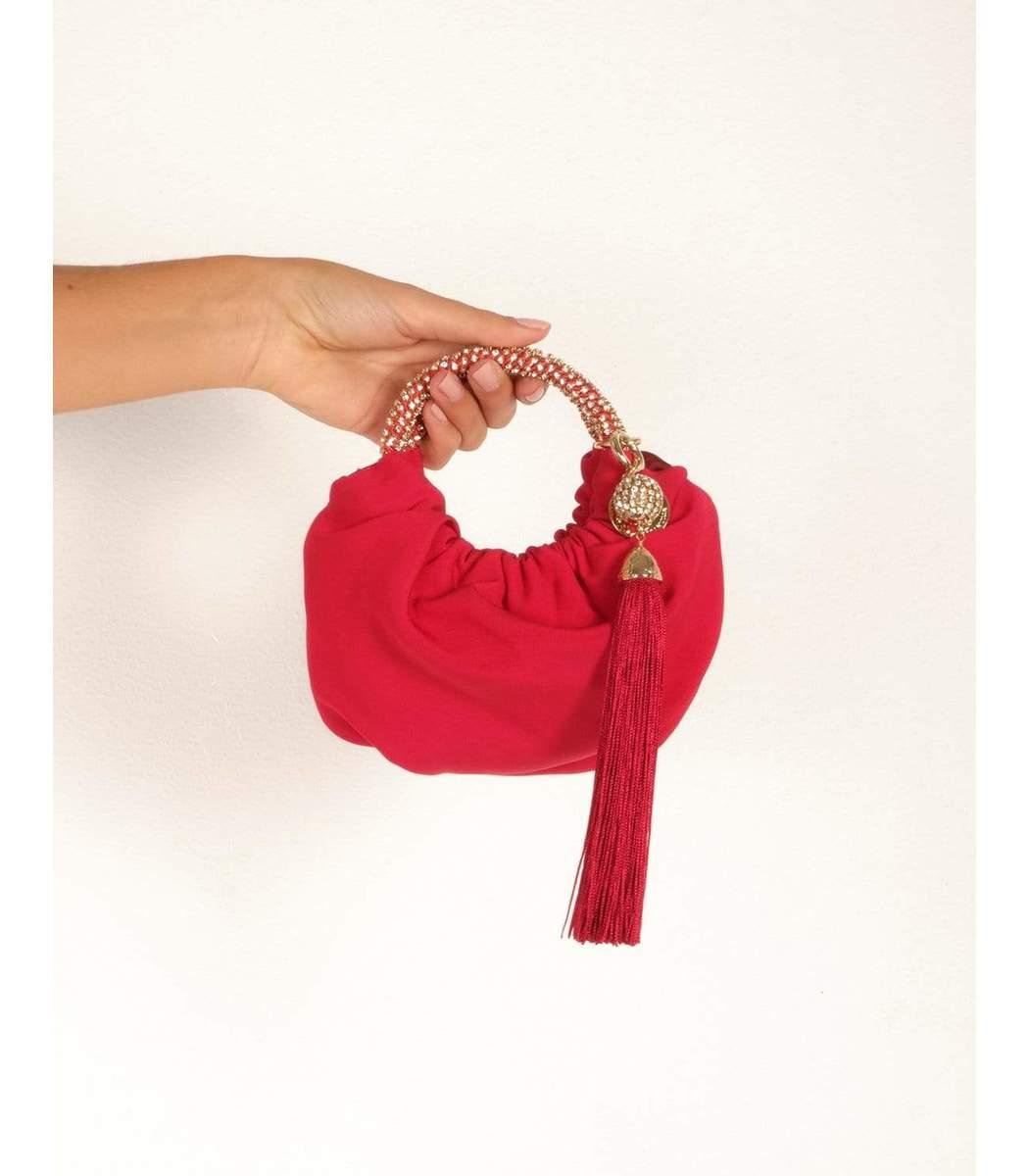 ROSANTICA Handbags Mini Croissant Handbag - Red