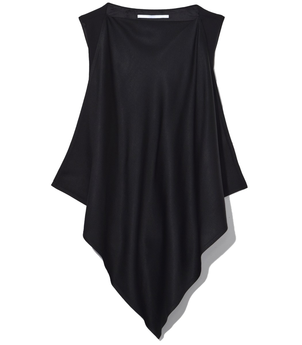 ROSETTA GETTY Black Scarf Neck Top
