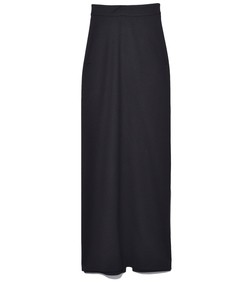 straight maxi skirt in black